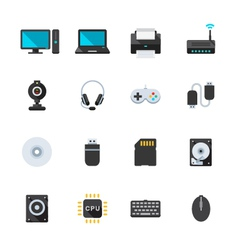 Computer and and Computer Accessories vector image vector image