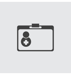 First aid doctor bag icon vector image