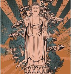 japanese grunge background vector image