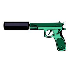 pistol icon cartoon vector image