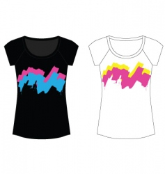 abstract paint woman t shirt vector image