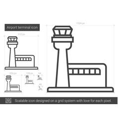 Airport terminal line icon vector