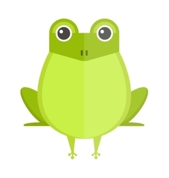 Australian green tree frog isolated on white vector