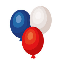 Balloons air party icons vector
