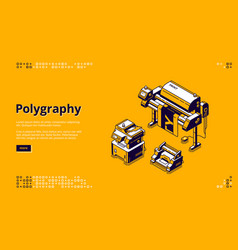 Banner polygraphy business vector