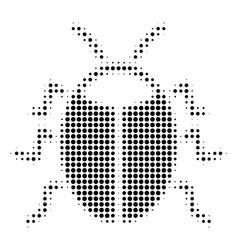 Black dot bug icon vector