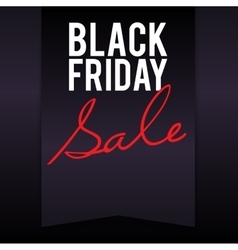 Black Friday sale banner with pennant vector image