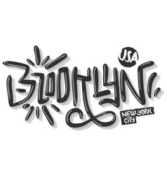 brooklyn new york usa hip hop related tag graffiti vector image