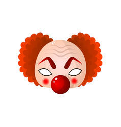 Carnival halloween clown mask with big vector