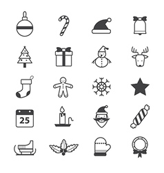 Christmas Party Icons Line vector image