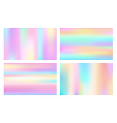 Cosmic style hologram backgrounds vector