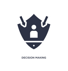 Decision making icon on white background simple vector