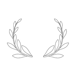decorative wreath icon vector image