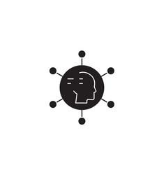 different digital ideas black concept icon vector image
