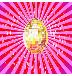 disco egg vector image