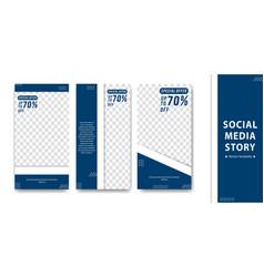 Editable creative social media instagram story vector