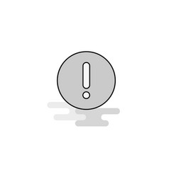 Error web icon flat line filled gray icon vector