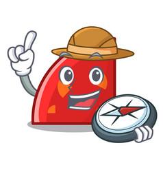 Explorer quadrant mascot cartoon style vector