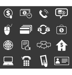 Finance icon set 5 monochrome vector