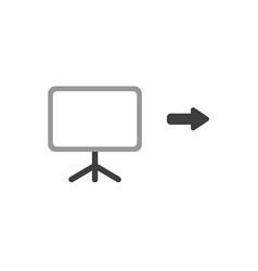 flat design concept of blank presentation chart vector image