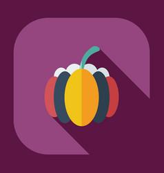 Flat modern design with shadow icons pumpkin vector
