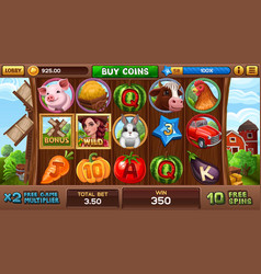Free games screen in farm style vector