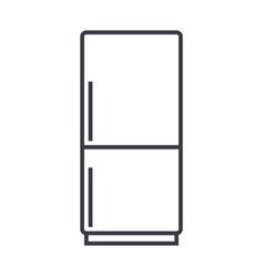 fridgerefridgirator line icon sign vector image