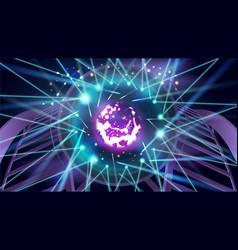 futuristic sci-fi thunderbolt shaped neon tube vector image