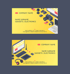 gadget pattern business card digital device vector image