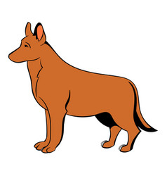 German shepherd dog icon cartoon vector