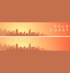 Gold coast beautiful skyline scenery banner vector