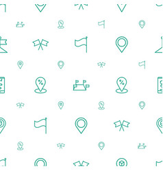 gps icons pattern seamless white background vector image
