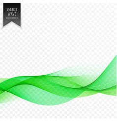 green abstract wave elegant background vector image