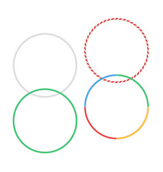 Gymnastic hoop isolated hula fitness object hoola vector