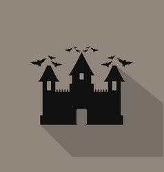 halloween castle icon vector image