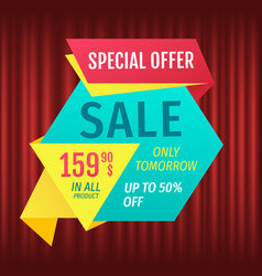 hot price poster exclusive offer business vector image
