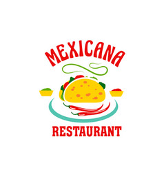 Icon for mexican cuisine restaurant vector