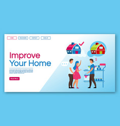 improve your home landing page template home vector image