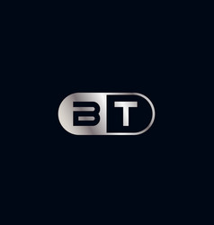Initial letter bt logo template design vector