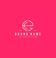 Letter ee logo design vector