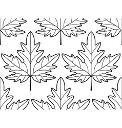 Maple leaf contour pattern vector