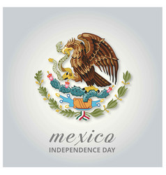mexico country eagle symbol indepence day vector image