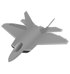 Military fighter jet aircraft vector