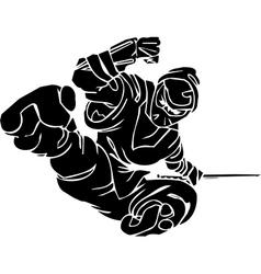 Ninja fighter - Vinyl-ready vector