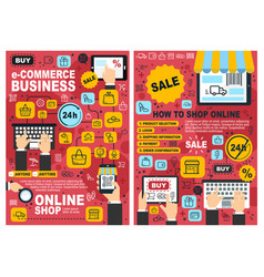 online e-commerce web store shopping vector image