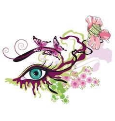 painted eye vector image