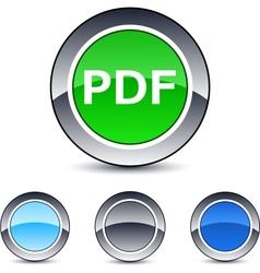 pdf round button vector image