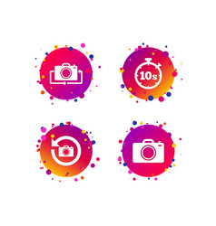 photo camera icon flip turn or refresh signs vector image
