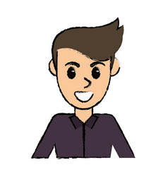 portrait man avatar comic image vector image