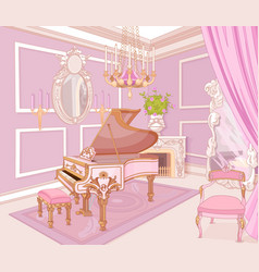princess music room vector image